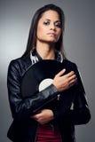 DJ woman Royalty Free Stock Image