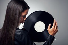 DJ woman Stock Images