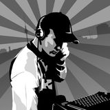 DJ at work Stock Photography