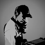 DJ at work Stock Images