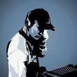 DJ at work Royalty Free Stock Photos