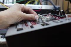 DJ at work Stock Image