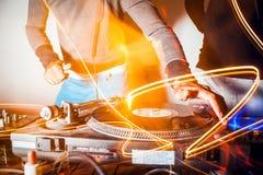DJ at work Royalty Free Stock Photo
