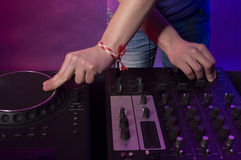 DJ on work Stock Images