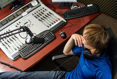 Dj working Stock Photos