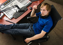 Dj working Stock Photography