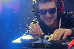 Dj working at nightclub Royalty Free Stock Photography