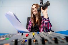 Dj working on the radio Stock Photo