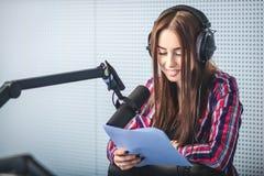 Dj working on the radio Royalty Free Stock Image