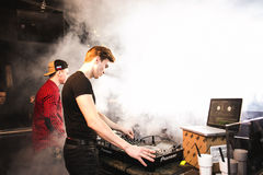 DJ& x27;s in the club Royalty Free Stock Photos