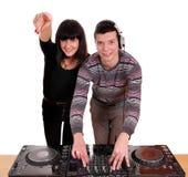 DJ y muchacha hermosa Foto de archivo libre de regalías