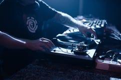 DJ y vinilo Imagen de archivo