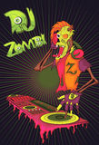 DJ zombies. cartoon character Royalty Free Stock Photo