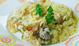 Djaj Fouq El-Eis. Chicken Dish From Oman Stock Images