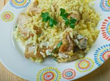 Djaj Fouq El-Eis. Chicken Dish From Oman Stock Image