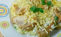 Djaj Fouq El-Eis. Chicken Dish From Oman Stock Photo