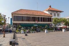 Djakarta, Indonesië - circa Oktober 2015: Koffie Batavia in Oude Stad Djakarta Stock Foto's