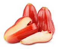 Djamboevruchten of chomphu op wit worden geïsoleerd dat Stock Afbeeldingen