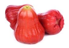 Djamboevruchten die op witte achtergrond worden geïsoleerde Stock Foto