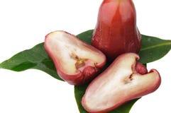 Djamboevruchten op groen blad Stock Afbeelding