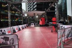 Django a désenchaîné la première de tapis rouge photographie stock libre de droits