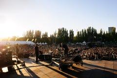 Django Django-de band presteert bij Dcode-Festival Stock Afbeeldingen