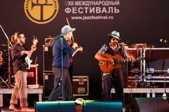 Django Lassi zespół na scenie Obrazy Royalty Free