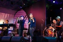 Django Lassi zespół na scenie Zdjęcia Stock