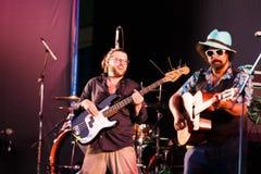 Django Lassi zespół na scenie Fotografia Royalty Free