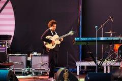Django Lassi zespół na scenie Zdjęcie Royalty Free