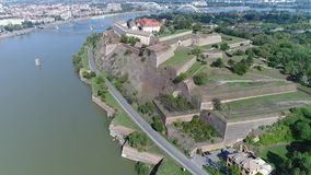 Djava Fortress 1 4K. The fort was built between 1692 and 1780. because of the constant danger from the Turks and the vicinity of the border with the Ottoman stock video