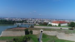 Djava Fortress 9 4K. The fort was built between 1692 and 1780. because of the constant danger from the Turks and the vicinity of the border with the Ottoman stock footage