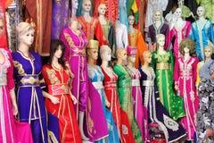 Djellaba, a traditional long female dress Stock Image
