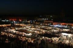 Djema el Fna at night Royalty Free Stock Images