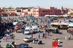 Djema el Fnaa i Marrakesh Royaltyfria Bilder