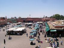 Djemaa ef fna's square Royalty Free Stock Photography