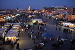 djemaa el fna马拉喀什广场 免版税库存图片
