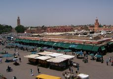 Djemaa el fna Royalty Free Stock Photo