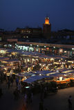 Djemaa el Fna. Square in Marrakesh, Morocco, part of UNESCO world heritage royalty free stock photography