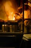 Djemaa el Fna cookers Royalty Free Stock Image