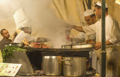 Djemaa el Fna kitchen Royalty Free Stock Images