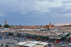 Djemaa El Fna, Marrakech, Марокко стоковое фото