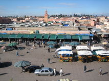 Djemaa el Fna, Marrakech royalty free stock images
