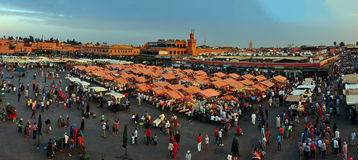Djemaa El-Fna. Marrakech city morocco Djemaa El-Fna square landmark 05.06.2015 royalty free stock images