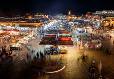 Djemaa El-fna at Marrakech, Morocco royalty free stock image