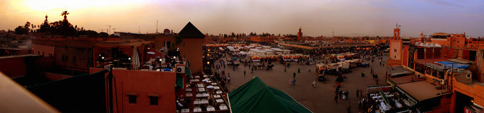 Djemaa el Fna, Marrakech, Sunset Royalty Free Stock Photos