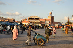 Djemaa el Fna in Marrakesh Royalty Free Stock Images