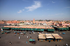 Djemaa el Fna square Royalty Free Stock Photo