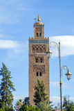 Djemaa EL Fna square and Koutoubia mosque in Marrakech Morocco Stock Image