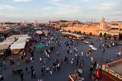 Djemaa el Fna square Marrakech Morocco Royalty Free Stock Photography